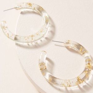 NWOT Anthropologie resin hoop earrings